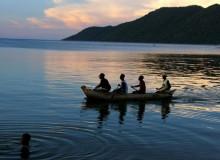 malawi-canoe ride by lake malawi