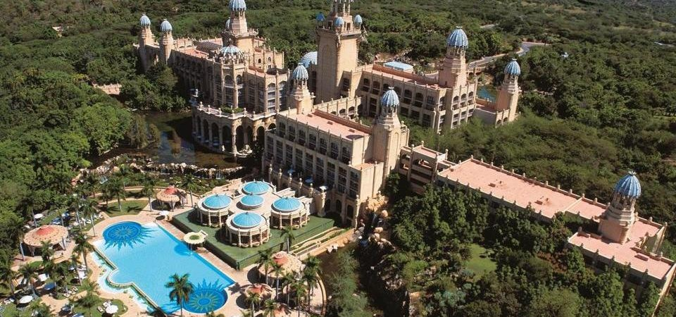 Aerial view of The Palace of the Lost City